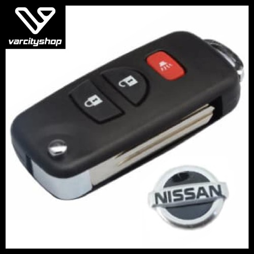 Foto Produk Casing kunci Flip key 3 Tombol Nissan Grand Livina Xtrail BONUS LOGO dari varcityshop