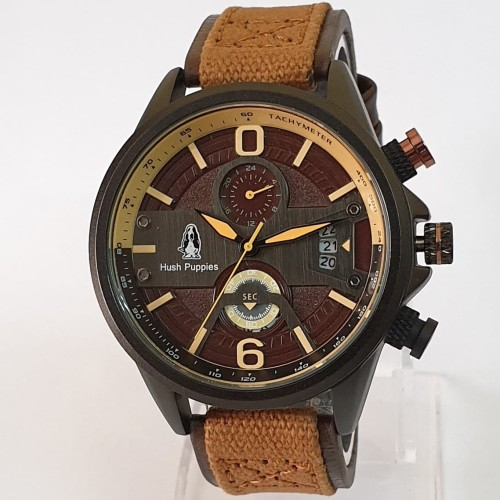 Foto Produk jam tangan HUSH PUPPIES PRIA KANVAS CHRONO BLACK dari Multyshop MSI