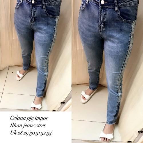 Foto Produk long pants list jwan jeans premi imp dari Bless-Shopp