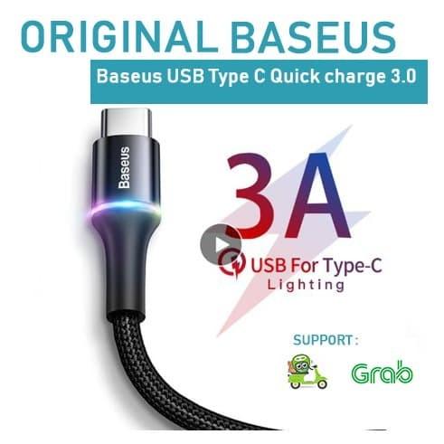 Foto Produk KABEL DATA BASEUS USB TYPE C FAST CHARGER CABLE PREMIUM ORIGINAL TIPE dari iregerstore