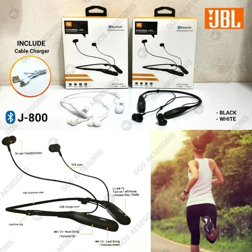 Foto Produk HANDSFREE EARPHONE HEADSET BLUETOOTH JBL J 800 dari GOS Aksesoris HP