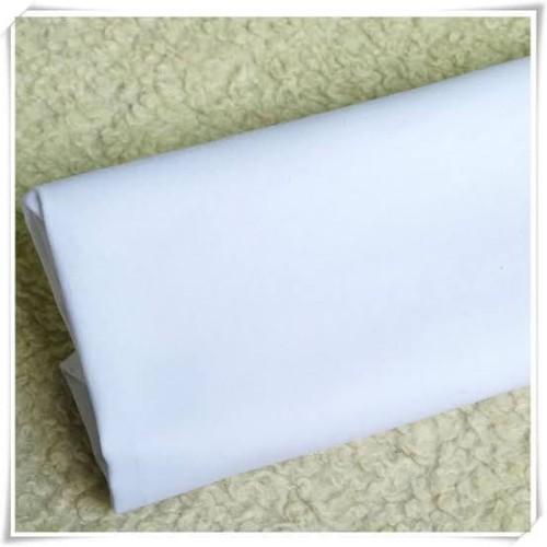 Foto Produk Kain Putih Polos TC cocok Untuk background Foto produk taplak meja - Putih dari kapas katun