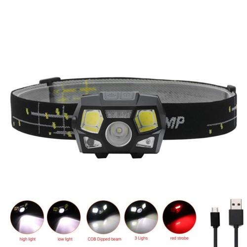 Foto Produk Senter Kepala USB sensor gerak / Headlamp XPE COB recharge 10000 lumen dari Sungai Kuning