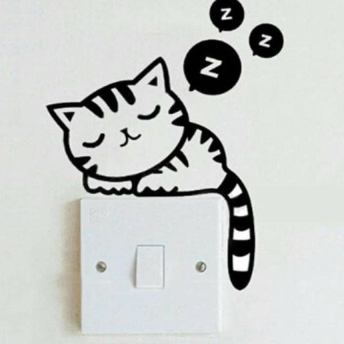 Foto Produk Stiker Tombol / Saklar Lampu (Motif Cat) dari Bougenville02