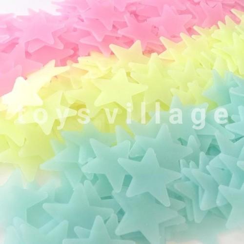 Foto Produk 100Pc Glow in The Dark Star / Bintang - Stiker Dinding / Wall Sticker dari Bougenville02