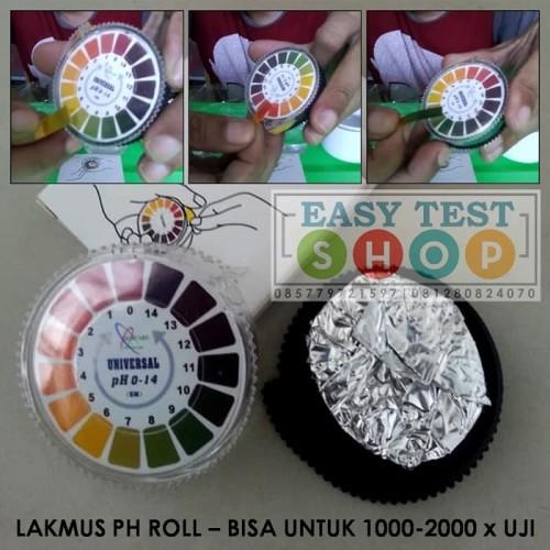 Foto Produk Kertas Lakmus pH Rol 1-14 Universal Roll pH Indicator Tes Kit Uji Air dari easytest