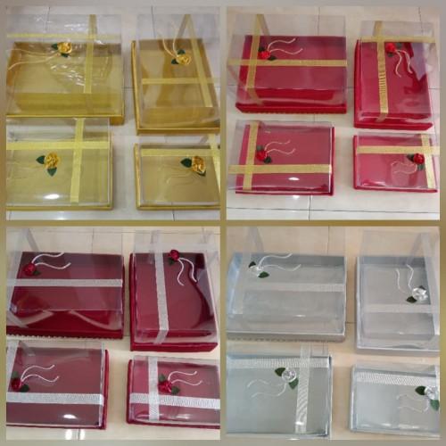 Foto Produk Kotak hantaran Seserahan mika mute emas, isi 4 kotak dari azizahsouvenirjakarta