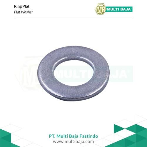 Foto Produk SUS 304 Ring Plat (Flat Washer) M5 Stainless dari Multi Baja Fasteners