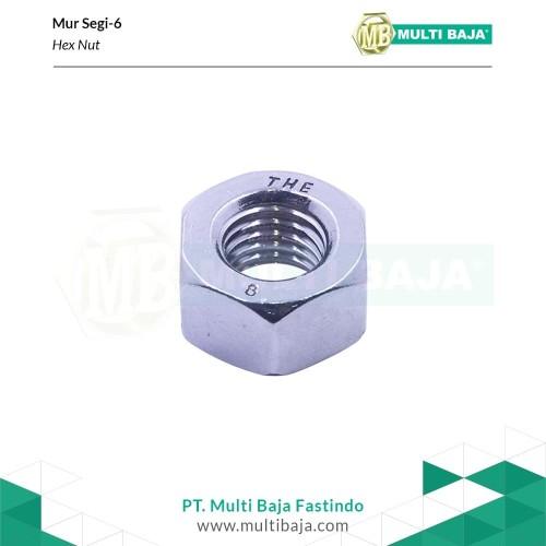 Foto Produk SUS 304 Hex Nut mm M8 x 1.25 ( Mur Stainless ) dari Multi Baja Fasteners