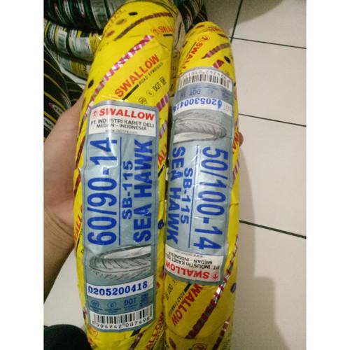 Foto Produk Ban Motor Metic Uk 50/100 & 60/90 Ring 14 Merk Swallow dari Peokpedia