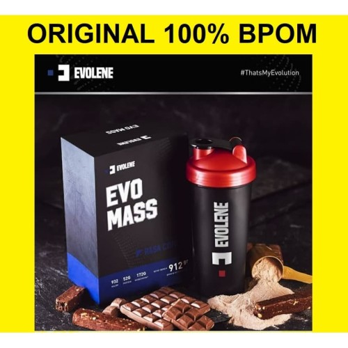 Foto Produk Evo Mass Gainer Evolene EvoMass 2 Lbs BPOM HALAL 2Lbs 2Lb Lb 912 GRAM dari Evolene Flimty Official