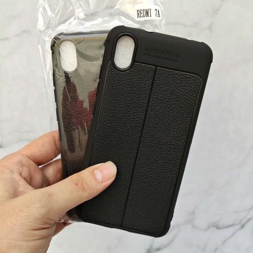 Foto Produk Xiaomi Redmi 7A Autofocus Leather Case Softcase Auto focus Case dari MoniQueenShop