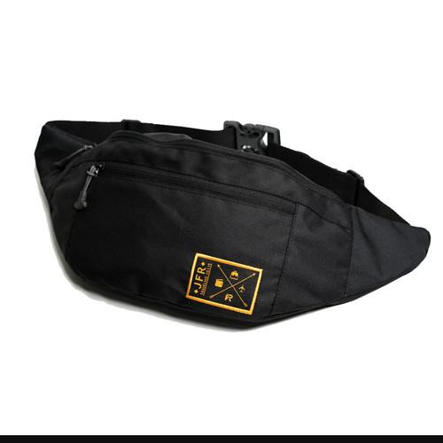 Foto Produk JFR Tas Pinggang Waist Bag Bahan Polyester JT02 Black dari lestaricollections
