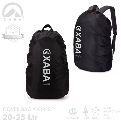 Foto Produk XABA Cover Bag FOREST 20-25 Liter - Penutup Tas - Rain Cover dari XABA