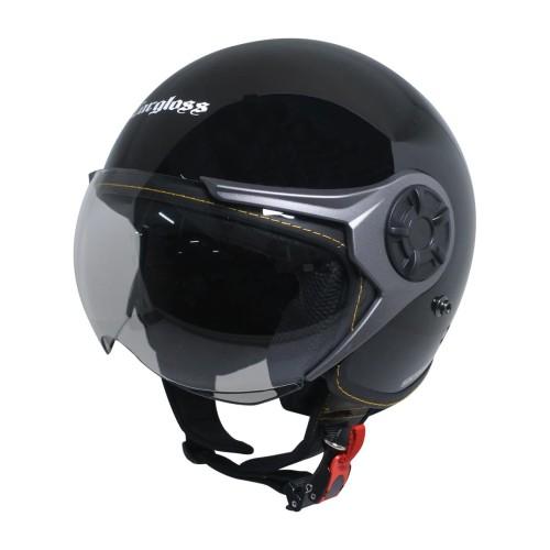 Foto Produk Cargloss YRM Micrometric Buckle Helm Half Face - Deep Black - XL dari Helm Cargloss