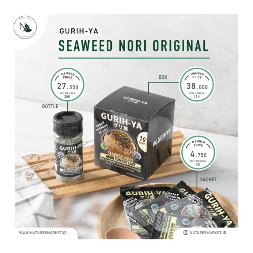 Foto Produk GURIH-YA Seaweed Nori Original (BOX) dari naturesmarket