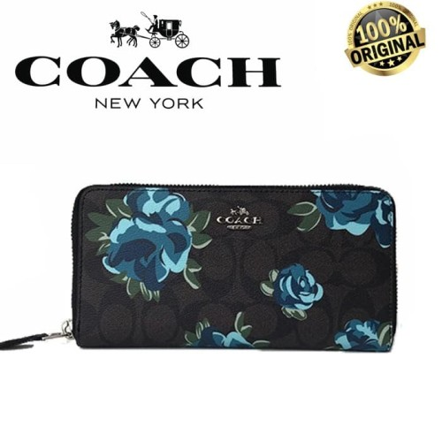 Foto Produk COACH ACCORDION ZIP WALLET SIGNATURE CANVAS FLORAL 100% AUTHENTIC dari Fashion&LifeStyle