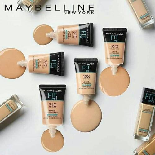 Foto Produk MAYBELLINE FIT ME MATTE + PORELESS Liquid Foundation TUBE 18 ml - Warm Nude dari Best Beauty