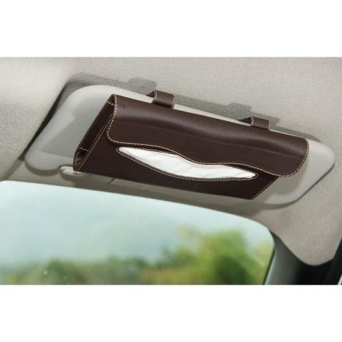 Foto Produk Technozio Tissue Sunvisor/Tempat Tissue Mobil/Tissue Warna coklat tua dari Technozio