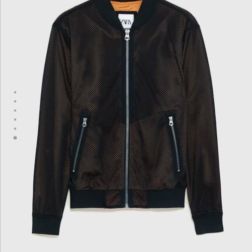 Foto Produk Zara original mesh bomber jacket / jaket motif jala diskon dari Kuro-Shiro