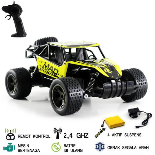 Foto Produk Mainan Mobil Remot Kontrol RC Cheetah Turbo - Kuning dari Mafemale