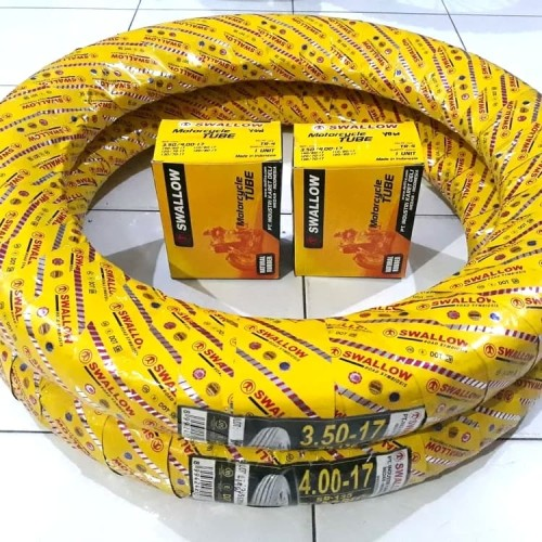 Foto Produk Paket Ban Luar Dalam Swallow 350-17 400-17 Classic SB 135 dari Wijaya Retro Classic