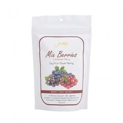 Foto Produk Jasmine mix berries dry food 100 gr   Manisan campuran Berry kering dari HRF _Shop