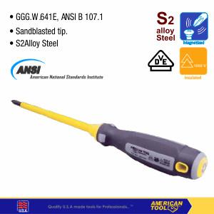 Foto Produk Obeng Elektrikal PLus S2 (PH2) 100mm American Tool 8957655 dari American Tool & Secure