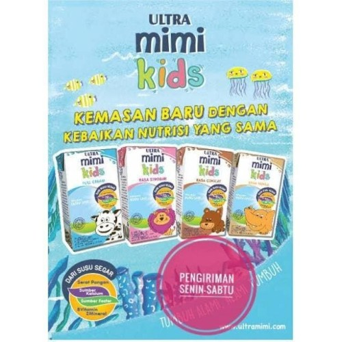 Foto Produk Susu ultra mimi 125ml all variant - Plain FullCream dari Hendry's beverage