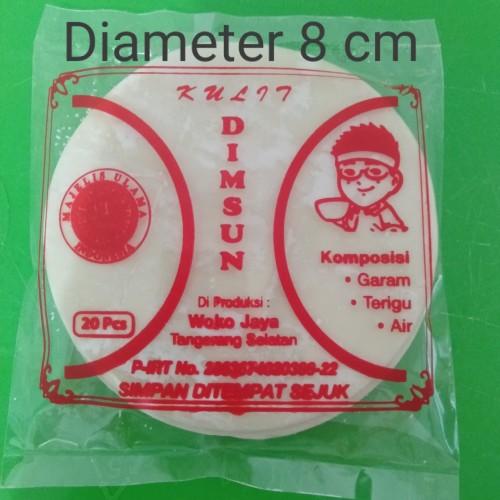 Foto Produk Kulit Dinsum pangsit bulat diameter 8,5cm isi 20pcs Halal dari Woko Jaya