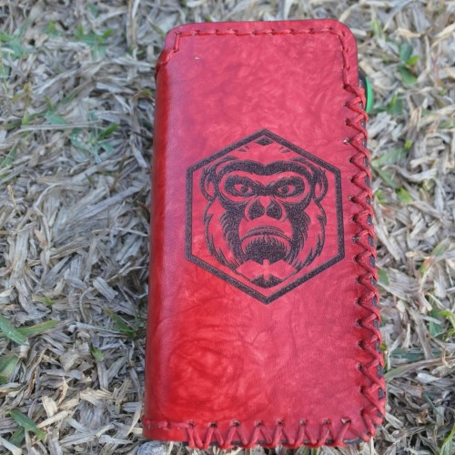 Foto Produk LEATHER CASE cover / sleeve Hexohm v3 anodized Limited Series - Merah dari ALdis Leather