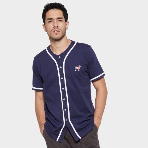 Foto Produk MON AKITA - Damien Men T-Shirt Navy - Kaos Lengan Pendek Biru Tua Pria - Biru, S dari Mon Akita
