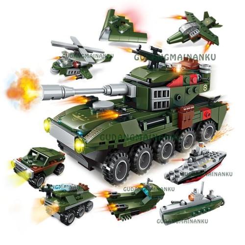Foto Produk Lego Qman Enlighten Tank 1803 QM-09 Amphibious Panzer (8in1) dari Gudangmainanku