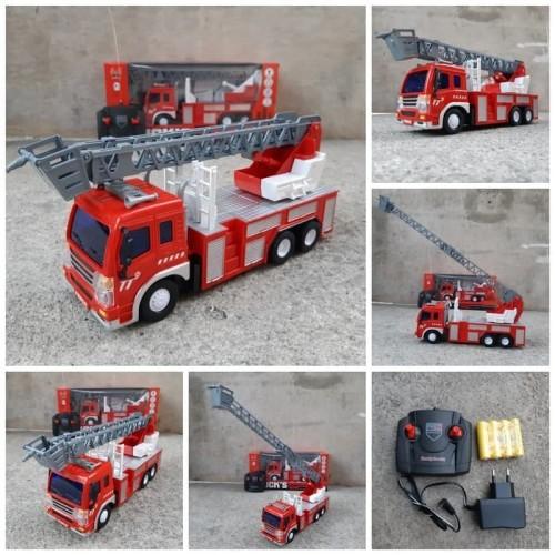 Foto Produk RC Car Fire Rescue-Remote Control Mainan Anak Mobil Pemadam Kebakaran dari kedai zazahra