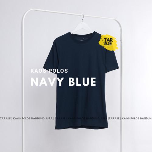 Foto Produk KAOS POLOS COTTON COMBED 30s - Size S M L XL - PENDEK - Warna Navy dari TARAJE