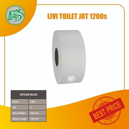Foto Produk [KHUSUS GOJEK/GRAB] Tissue LIVI Toilet JUMBO JRT 1200's 1DUS (16Roll) dari KiosCepat