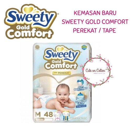 Foto Produk Sweety Gold Comfort Tape M48 M 48 dari Cute On Cotton Indonesia