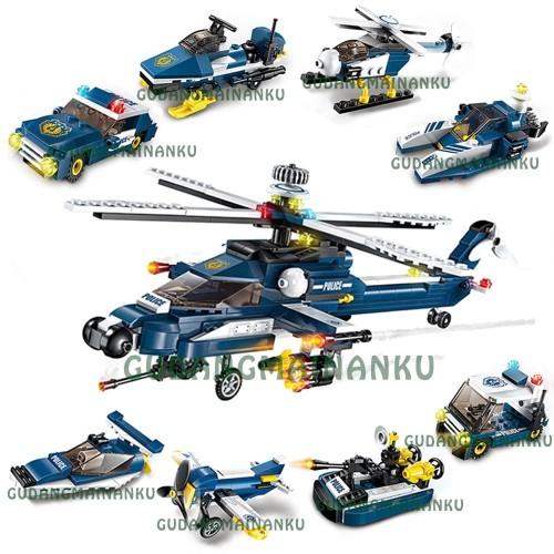 Foto Produk Lego Qman Enlighten 1801 Armored Helicopter Windstorm (8in1) dari Gudangmainanku
