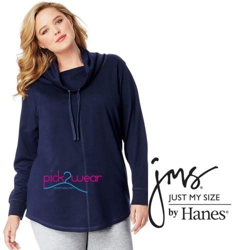 Foto Produk Baju Tangan Panjang Pullover Tunic Cowl Neck Big Size Navy Blue dari pick2wear