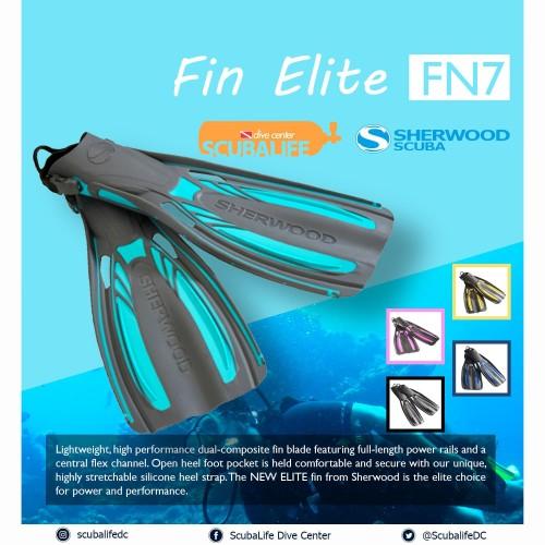 Foto Produk Sherwood Elite Fins Open Heel high performance - Hitam, 36 dari Sherwood Scuba Indonesia