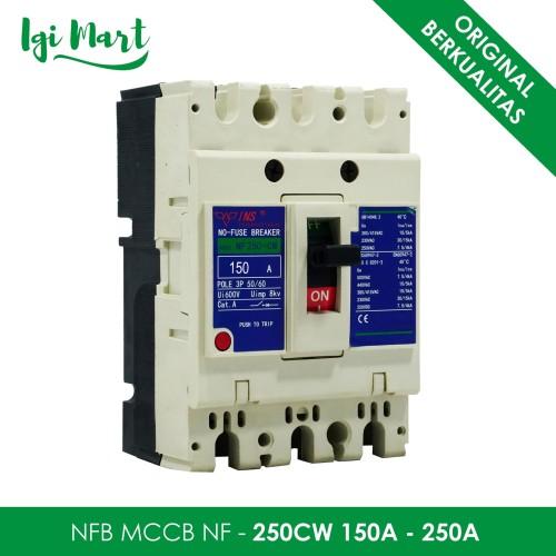 Foto Produk NFB NO FUSE BREAKER NF-250CW 150A 200A 250A / MCCB NF 250CW 150A-250A - 150A dari Igi Mart