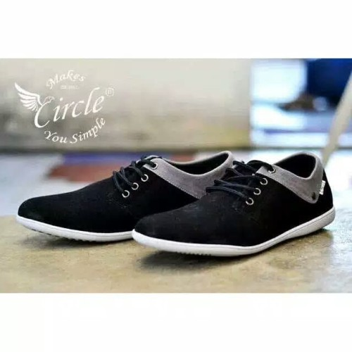 Foto Produk sepatu casual pria / sepatu semi formal / circle new 3 black dari hana shoes