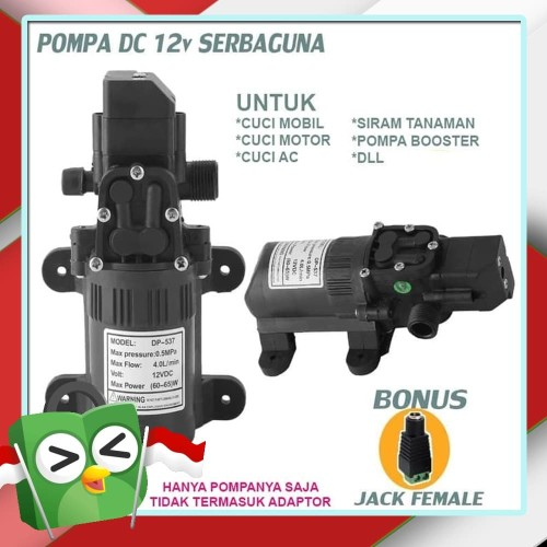 Foto Produk Pompa Air DC 12 Volt Penguat Tekanan Air High Pressure Mini dari Tukura