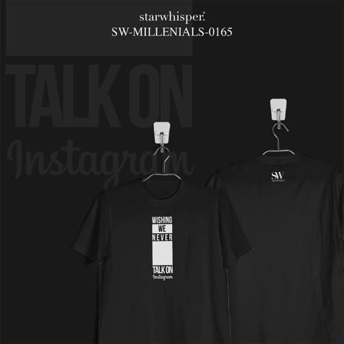 Foto Produk STARWHISPER MILLENIALS T-Shirt - Wishing never talk - Putih, S dari STAR WHISPER