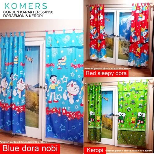 Foto Produk Gorden Karakter Lucu Murah - Red Sleepy Dora dari Komers