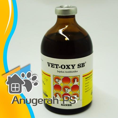 Foto Produk Antibiotik Hewan Injeksi Oxytetracycline Vet Oxy SB Sanbe 100 ML dari Anugerah PS
