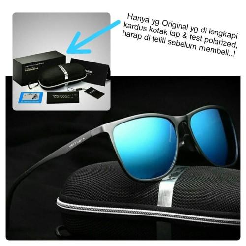 Foto Produk Kacamata Sunglass Fashion Polarized Original Veithdia 6623 Blue dari kacamata aviator