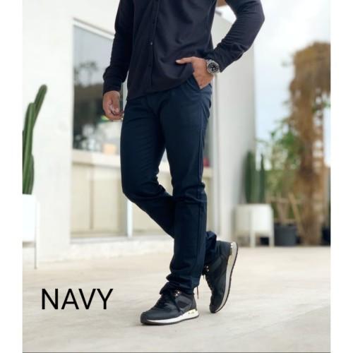 Foto Produk celana chino panjang pria keren murah NAVY - S dari D'WINKEL