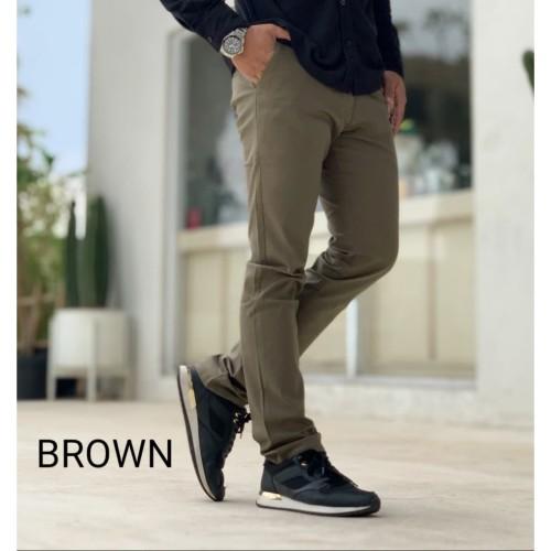Foto Produk Celana Chino Pria / Celana Panjang Brown Melar - S dari D'WINKEL