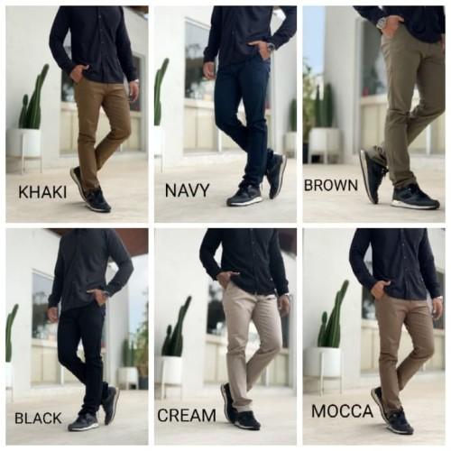 Foto Produk Celana Chino Pria | Celana Panjang Pria PREMIUM MELAR - KHAKI, S dari D'WINKEL